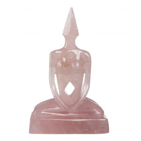 "6"" Union Meditator Statue, Pink Crystal"
