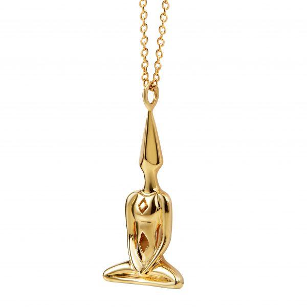 Gold Meditator Necklace