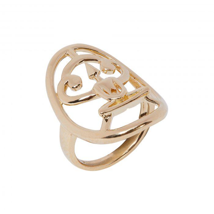 Gold Meditator Ring