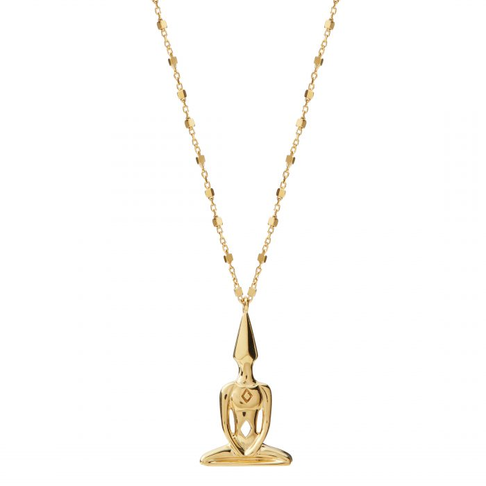 Gold Plated Meditator Necklace