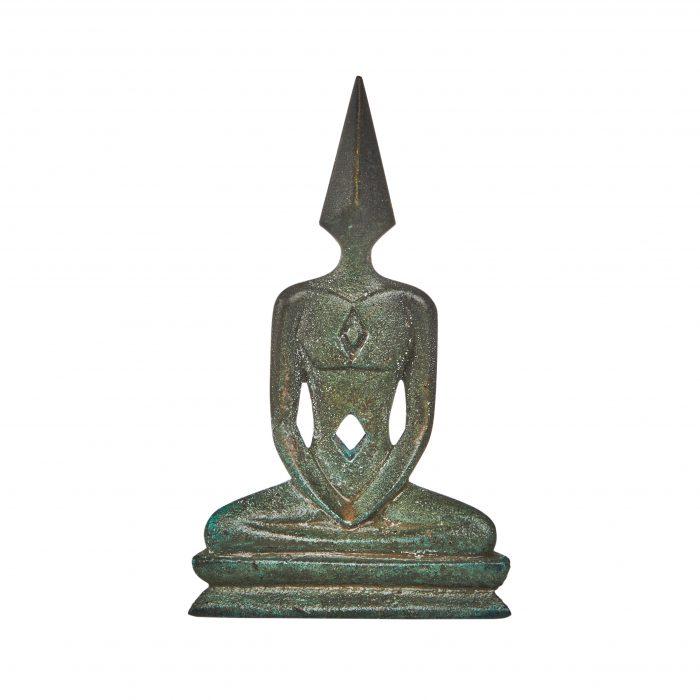 Mini Bronze Meditator Statue