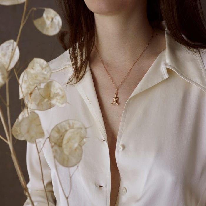 Rose Gold Meditator Necklace