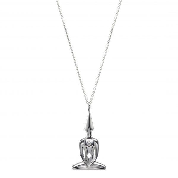 Silver Meditator Necklace
