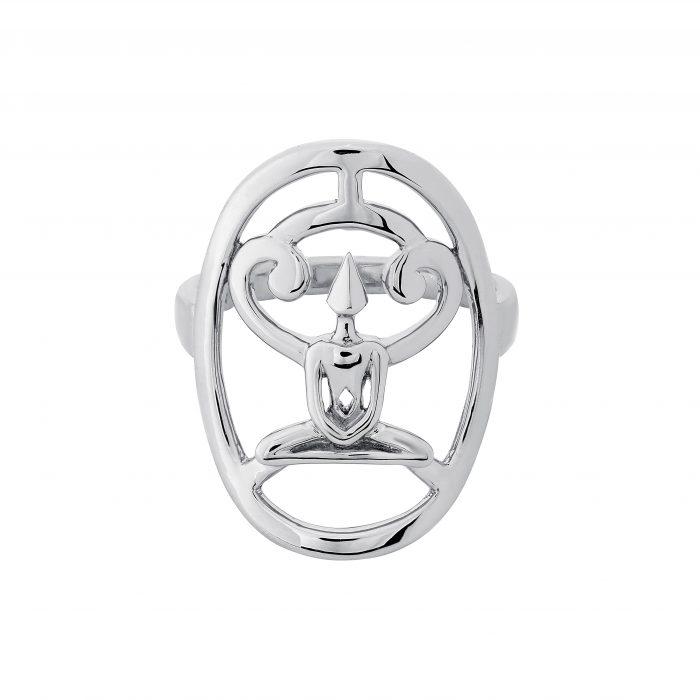 Silver Meditator Ring